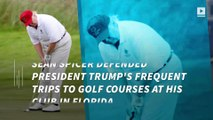 White House defends Trump's frequent golf outings