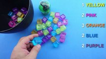 Fun Colored Water Cubes! Learn Colours with Water Cubes! Kinder Surprise Eggs