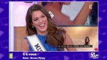 Fou rire sur le plateau de C à vous après une phrase de Miss Univers