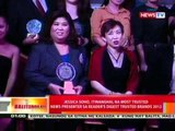 BT: Jessica Soho, itinanghal na Most Trusted   News Presenter sa Reader's Digest Trusted Brands 2012