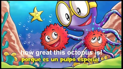 """Sing along in Spanish """"Orlando the brave octopus""""- Subtitles in English- Educational Videos"""