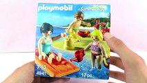 Playmobil Summer Fun 5439 Vakantiegangers met rubberboot, duikbril, flippers en zwembandje