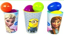 ❤ Frozen Minions Suprise Eggs Cups with Skye Paw Patrol Inside Out Peppa Pig Cinderella Rapunzel
