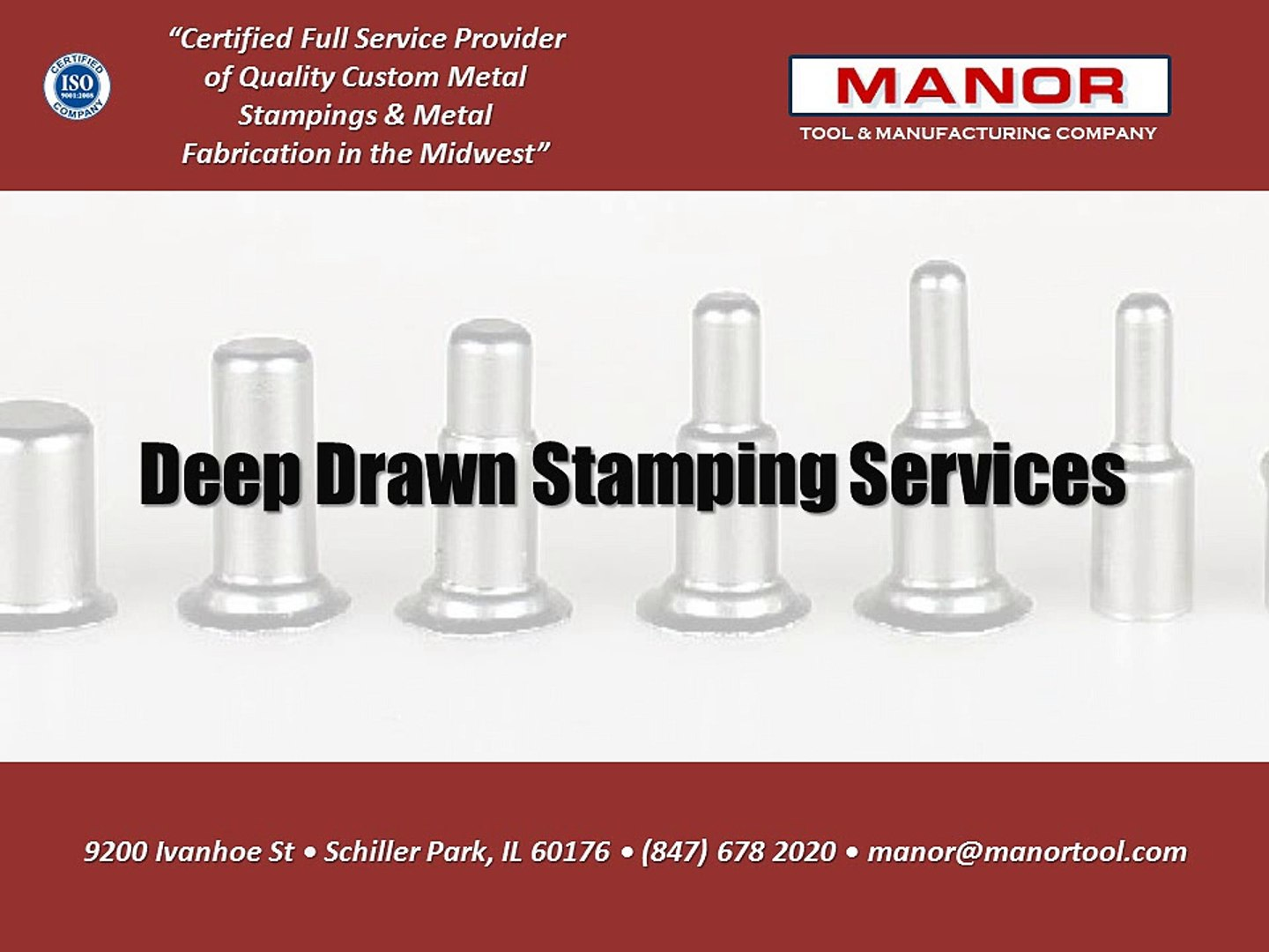 Deep Drawn Stamping Services   Manor Tool
