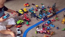 Dinosaurs SURPRISE TOYS COLORS & MONSTER TRUCKS Disney Cars Toys TRAINS