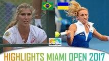 Beatriz HADDAD MAIA vs Lesia TSURENKO highlights WTA Miami Open 2017