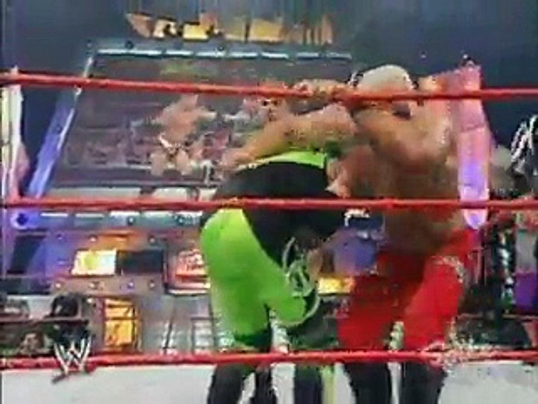 Mark Henry & Scott Steiner & Test vs Booker T & Hurricane & Rosey WWE Raw 2003