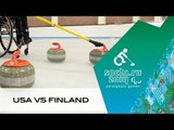 USA v Finland | Round Robin | Wheelchair curling| Sochi 2014 Paralympic Winter Games