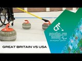 Great Britain v USA | Round robin | Wheelchair curling| Sochi 2014 Paralympic Winter Games