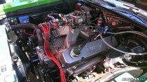 Plymouth 'Cuda 440 V8 Burnout at the Drag Strip