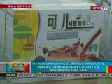 BP: Di rehistradong slimming products, sexual enhancers at cosmetics, kinumpiska ng FDA