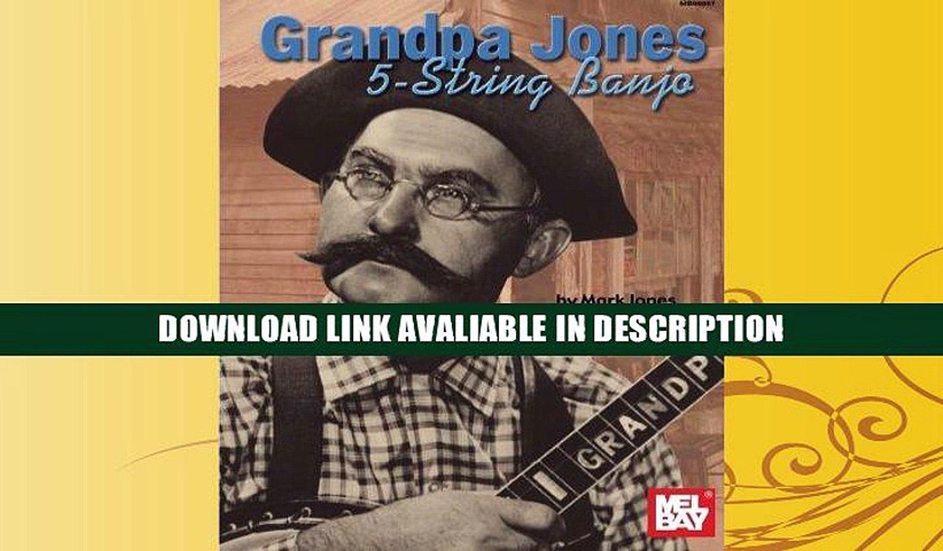 GRANDPA JONES 5-STRING BANJO BOOK NEW
