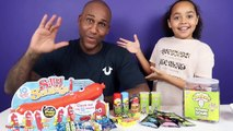 Silly Sausage Toy Challenge Game - Warheads Extreme Sour Candy - Family Fun Games-Nz7v0OFQ