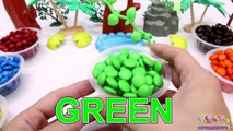 Learning Colors for Children with M&M Candy and The Good Dinosaurs-o