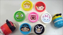 LEARN COLORS with Disney Tsum Tsums! Play doh Toy Surprise Cans, Disney ツムツム Toys-b4IAER