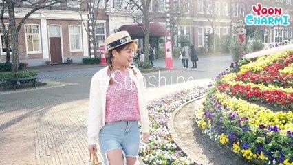[Japan]Spring is Coming Makeup Yoon Charmi Brings the Spring ! [일본로케] 봄이왕 메이크업 윤쨔미가 먼저 봄을 가지고 왔어요~같이 봄나들이 가요✈ 윤쨔미
