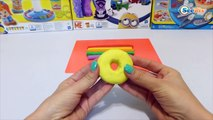 ✔ Play Doh Rainbow Donut. How to Make with plasticine Playdoh. Game Fun Toys. Video for kids. ✔