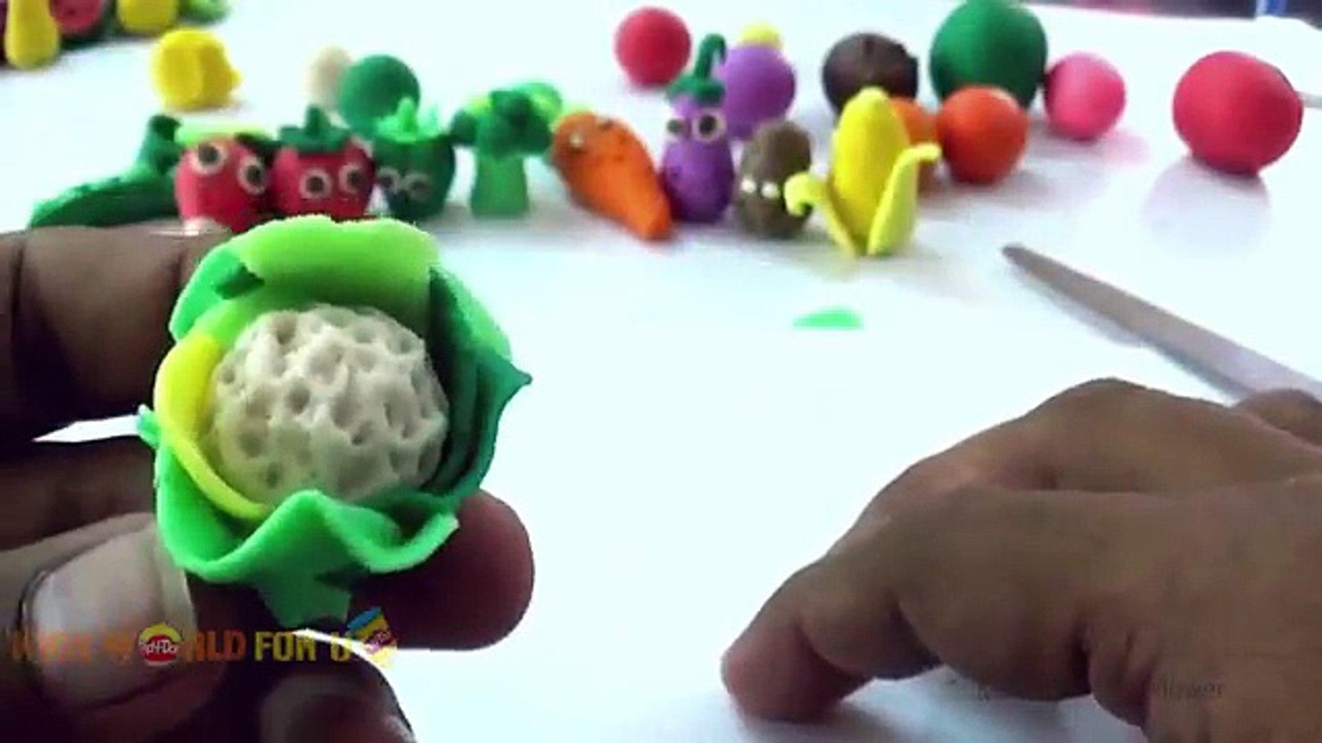 Узнать овощи с пластелина | дети учатся играть doh видео | морковь мороженое