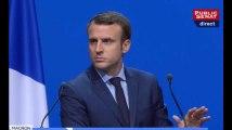 """Macron: """"Je ne viens pas devant les maires de France pour me faire siffler"""""""