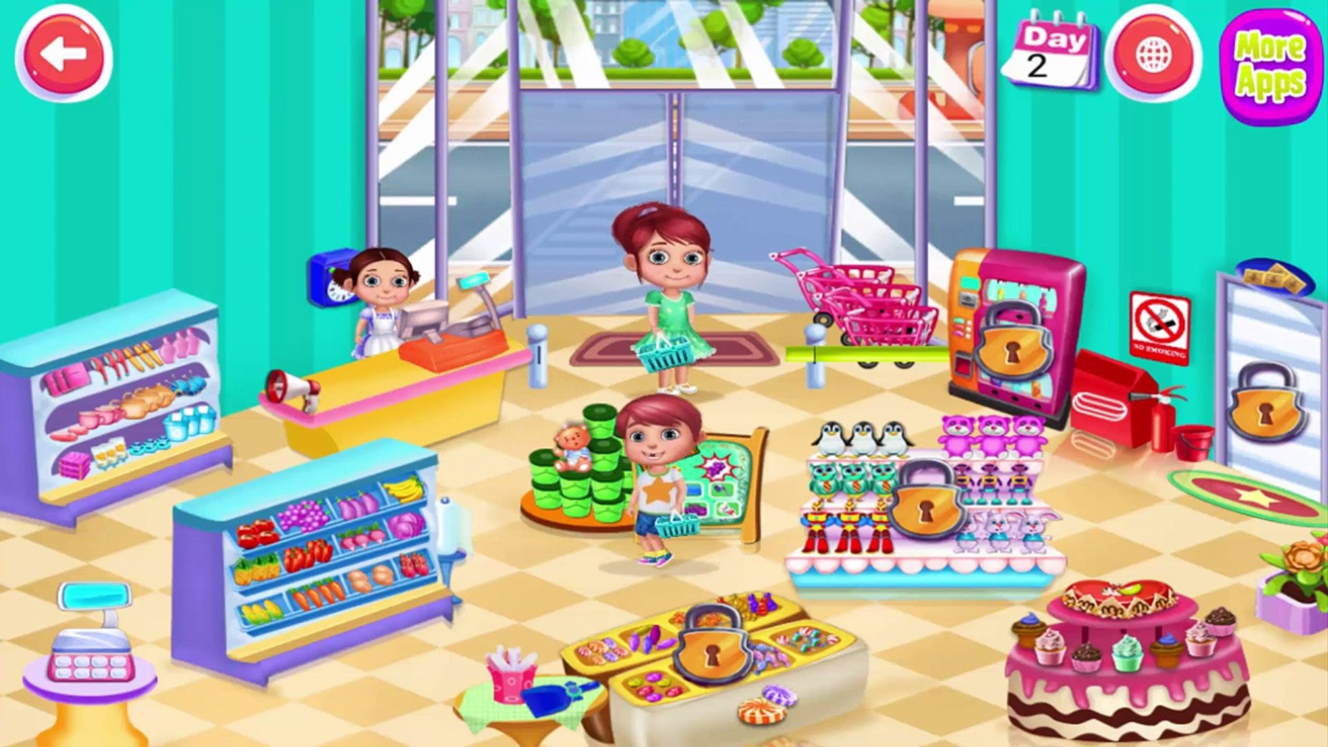 Kids Supermarket Adventure - Kids Play & Buy Cute Toys, Candy at Supermarket -Activities K