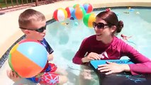 POOL TOYS CHALLENGE!!! Giant Pool filled with Surprise Bath Toys + Ariel Mermaids, TMNT & Cars