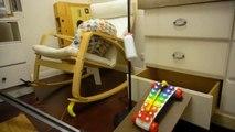 Annoncer l'arrivée de son enfant avec une machine de Rube Goldberg