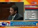 NTG: Sen. Tito Sotto, dati raw namatayan ng anak dahil sa paggamit ng contraceptive ng kanyang asawa