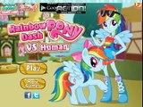 My Little Pony Equestria Girls Rainbow Rocks Rainbow Dash Pony Vs Human Dress Up Game