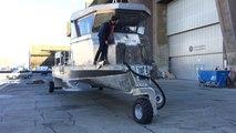 Mise à l'eau de Spadassin, bateau amphibie