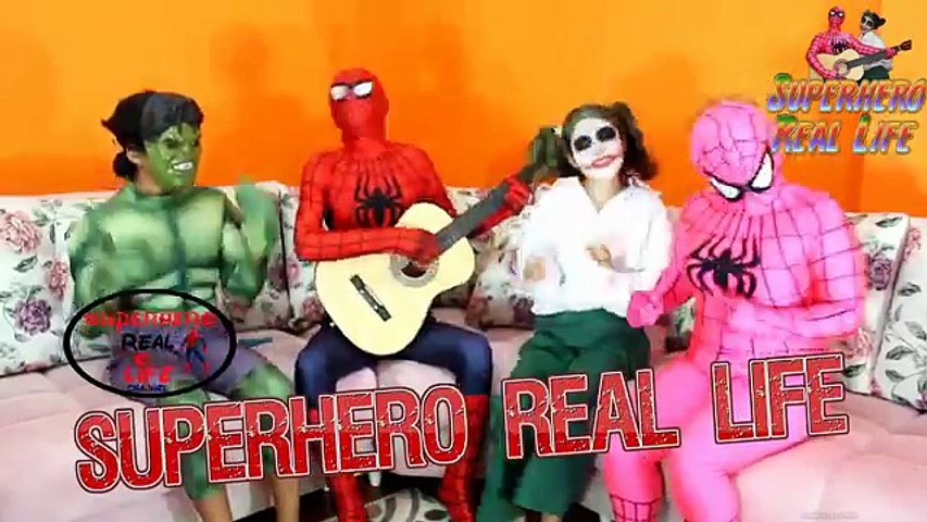Pregnant Spiderman vs Pink Spidergirl Doctor - Frozen Elsa Funny Superheroes in Real Life