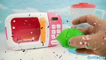 Microwave Fruits Slime Surprise Toys Disney Princess Frozen Learn Colors Finger Family Son