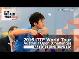 2016 Australian Open Highlights: Lin Ping-Hsu vs Michael Mastromonaco (Qual)