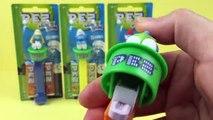 Smurfs PEZ Candy Dispensers, Smurfette, Happy Smurf, Papa Smurf, Brainy Smurf