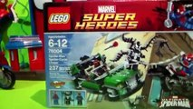 SPIDER-MAN: SPIDER-CYCLE CHASE - Lego Super Heroes Set 76004 Review + Super Hero MashEms!