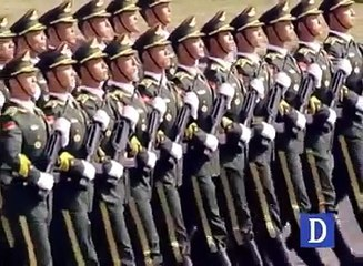 Chinese troops participate in Pakistan Day parade !