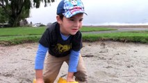 Toy Trucks for Kids - Tonka Construction Vehicles Digging in Mud - Dump Truck, Backhoe, Bulldozer-XqU9O