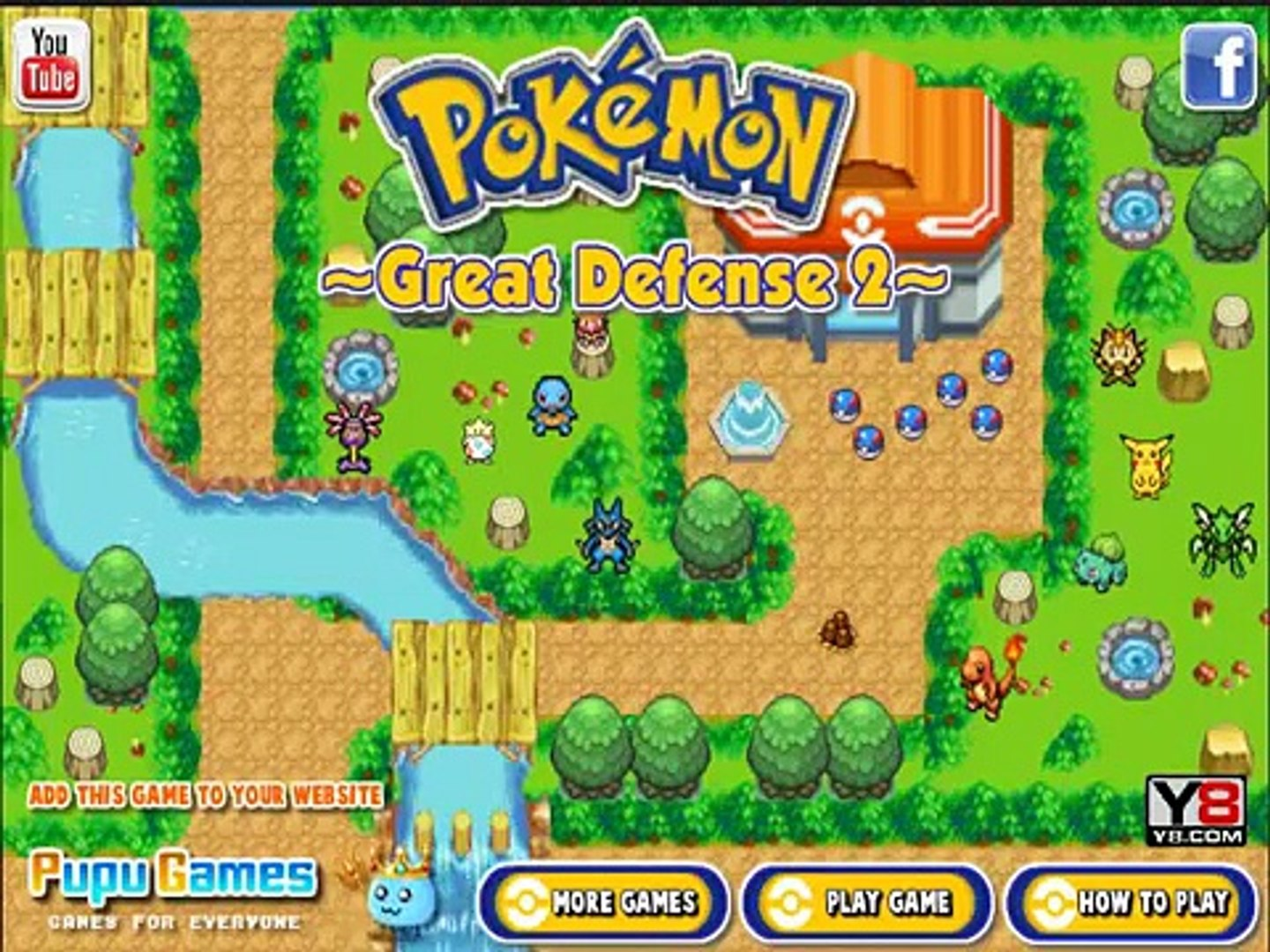Pokemon great defense 2 game , nice game play for kids , best game for kids , super game for kids
