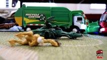 Garbage Truck Videos For Children l TOY TRUCK BATTLE Jumping Ramps l Garbage Trucks Rule-SLRJAK