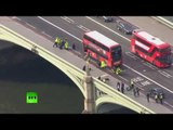 London: Aftermath of terror attack near UK Parliament (Drone footage)