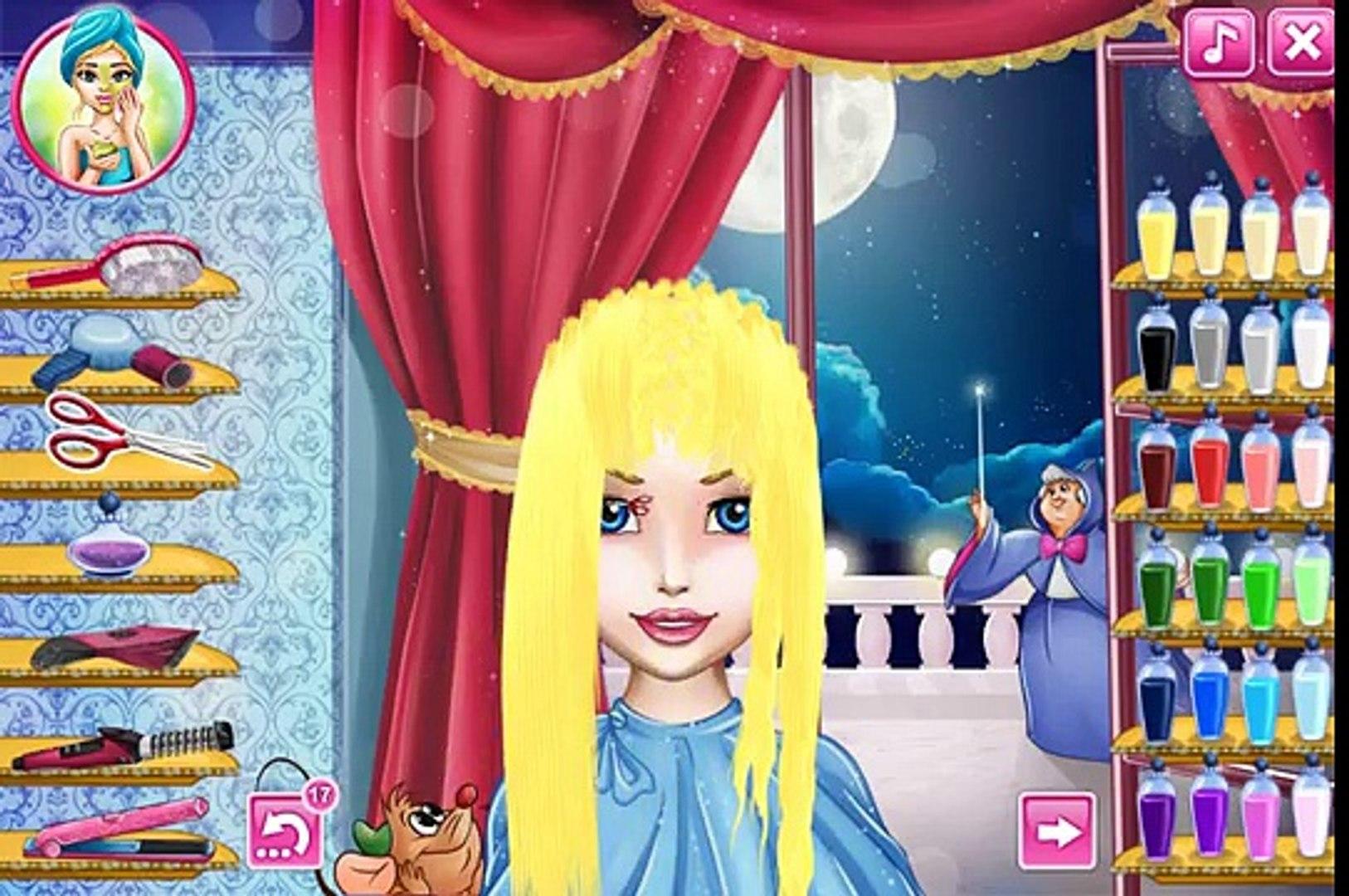 NEW Игры для детей—Disney Принцесса Золушка собирается на бал—мультик для девочек