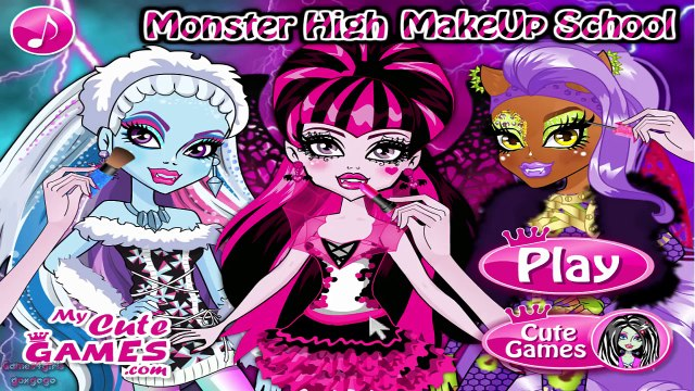 Monster High Makeup School ♥ Draculaura Makeup Tutorial Game ♥ Monster High Games