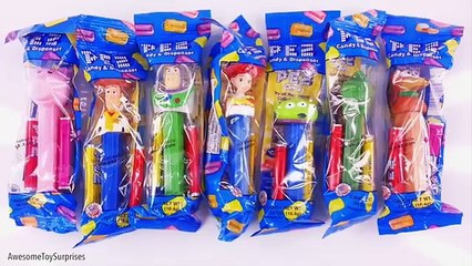 Candy Pez Dispensers Mickey Mouse Toy Story Batman v Superman Learn Colors! Learn to Count