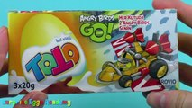 3 TOTO Angry Birds Go Surprise Eggs Unboxing - Angry Birds Surprise Eggs Toys