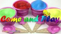 Ice Cream Clay Slime Surprise Eggs Disney Finding Dory Disney Frozen Trolls Pokemon Toys Fun Kids-Ne