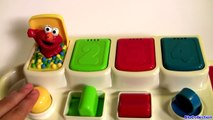 Learn Numbers Colors with Sesame Street Talking Pop Up Pals Elmo Cookie Monster Toy Surprise Eggs-cl