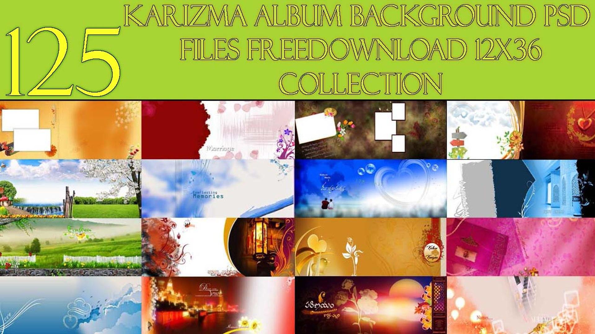 125 Karizma Album Background 12x36 Frame Psd Collection Video Dailymotion