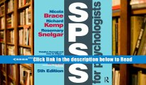 Read SPSS for Psychologists: Fifth Edition PDF Popular Book