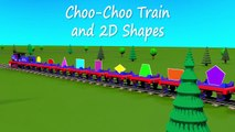 Learn about 3d shapes with Choo-Choo Train – part 1. Educational cartoon for children grad