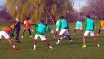 NIGERIA vs SENEGAL (amical)- Séance d'entrainement des Nigérians à Londres