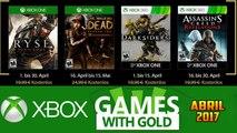 Jogos GRÁTIS Xbox LIVE GOLD de Abril 2017 (Xbox 360 / Xbox ONE)